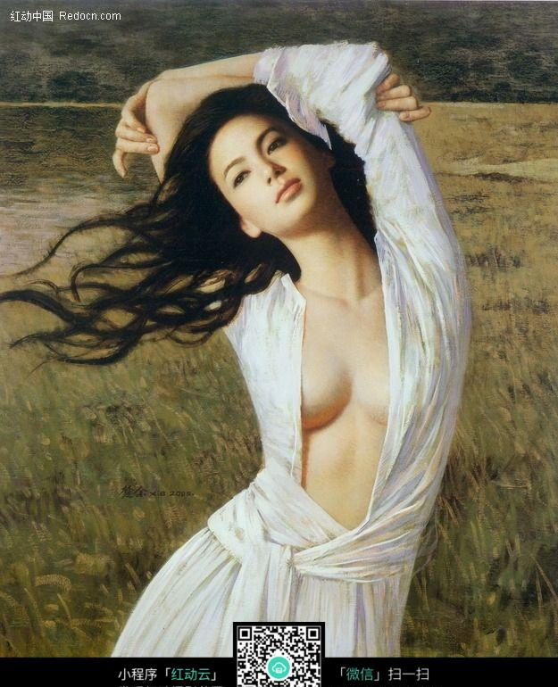 欧美美女油画人物46图片编号:2716
