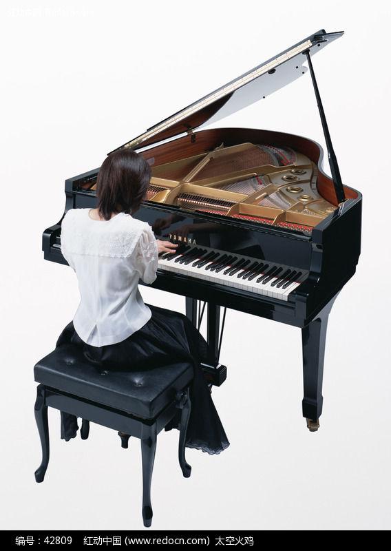 美女弹钢琴图片编号:42809 影音娱乐