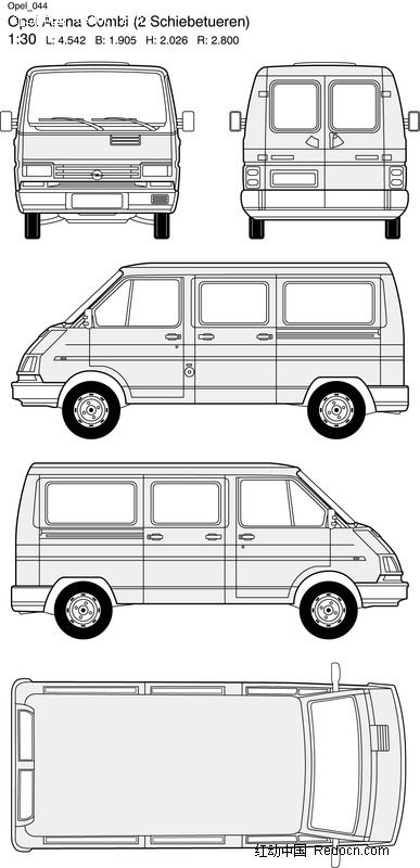 opel欧宝汽车44 交通工具 现代科技 矢量素材 红动图爸 设计素材中国网高清图片