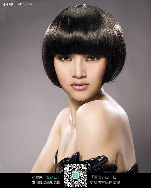 美发美女模特设计图片