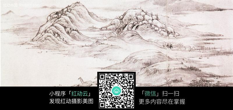 古代山水名画图片-书画文字-文化艺术-图片素材图片
