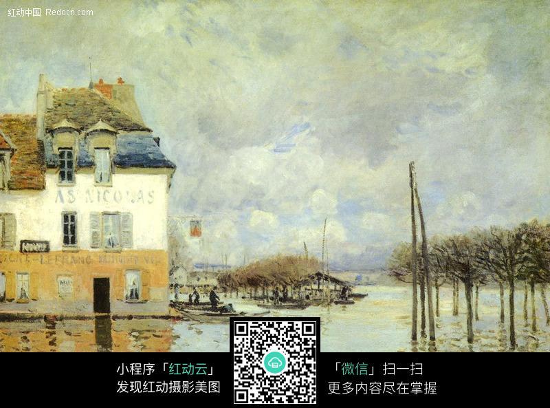 马奈油画作品图片 编号 100108 书画文字 文化艺术 图片素