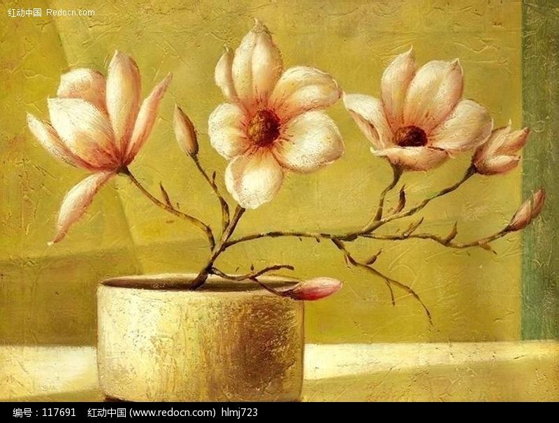 花卉油画设计图片