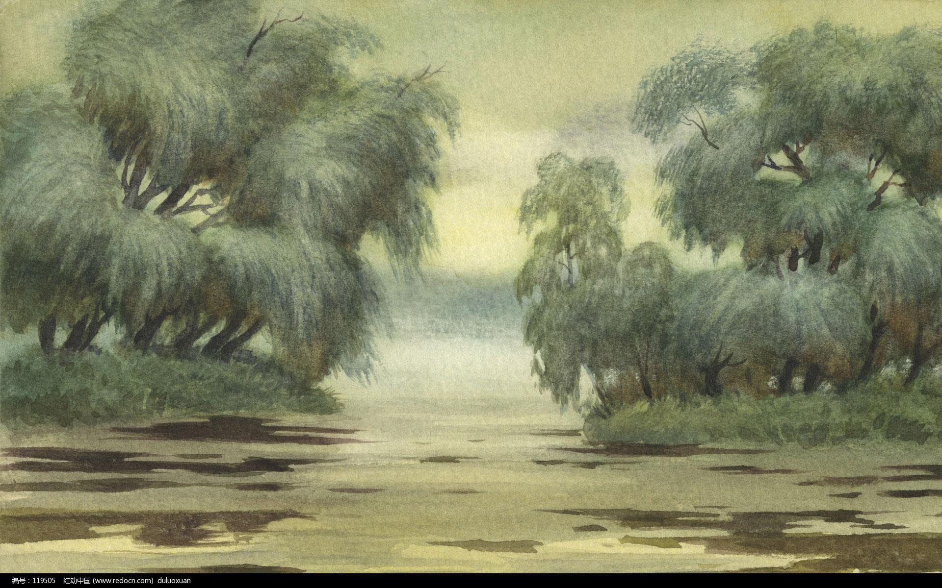 风景水彩画作品欣赏绘画欣赏 水彩 水粉 油画 绘画欣赏 设计欣赏 红动