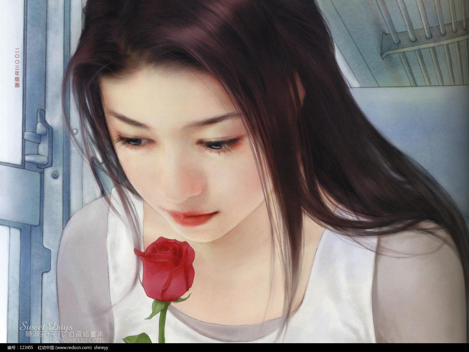 超写实手绘美女图片 插画设计 绘画欣赏