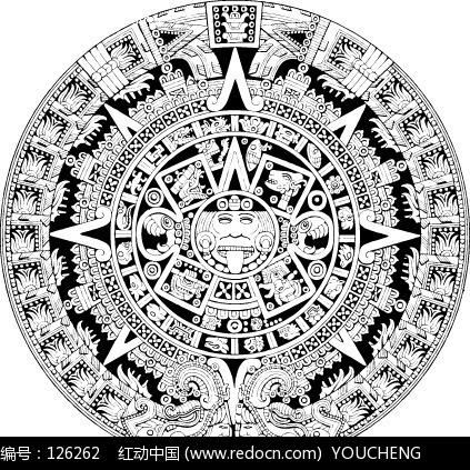古代古典神秘图案矢量设计图片图片
