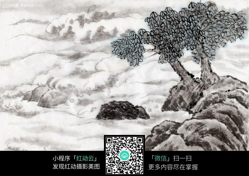 纹身图案 纹身树木山水画 > 树木国画jpg图片素材-美术绘  树木国画图片