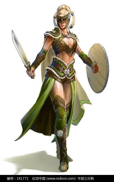 金发美女战士 游戏人物造型绘画欣赏编号:141771