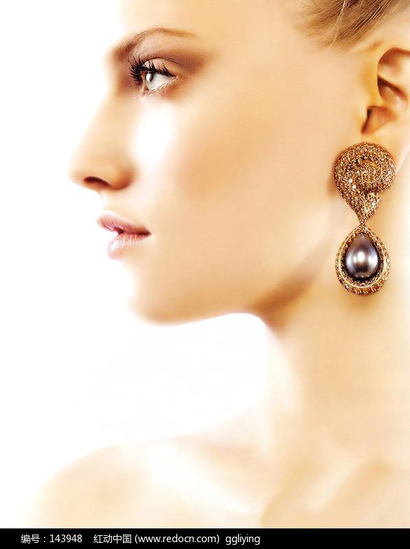 外国美女模特人物珠宝首饰广告图片珠宝首饰海报人物