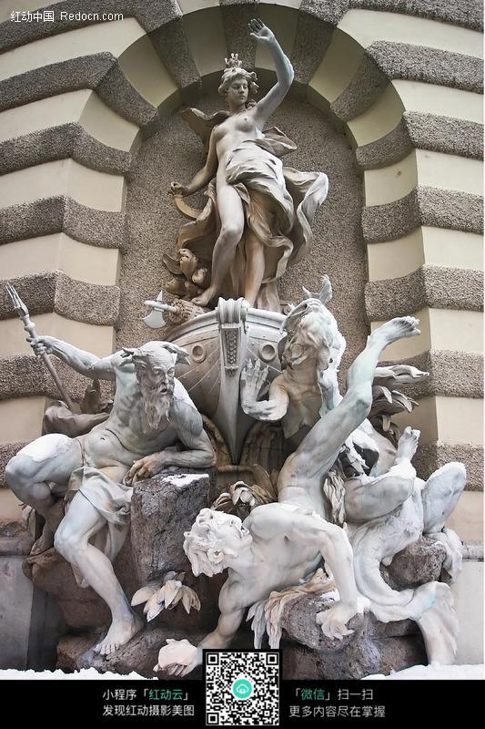 古希腊神话人物石雕图片图片