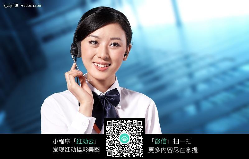 中国税务客服美女图片图片编号:147962