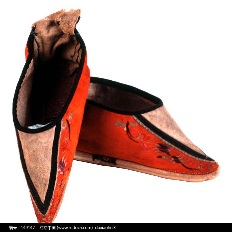 古董鞋子古代女子鞋生活用品生活百科传统文化工艺品