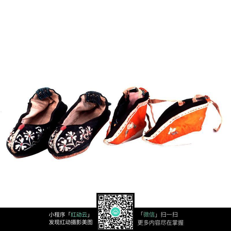 小鞋古董鞋子古代女子鞋生活用品传统文化工艺品