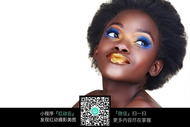 化彩妆的黑人美女图片图片 人物图片素材 图片库