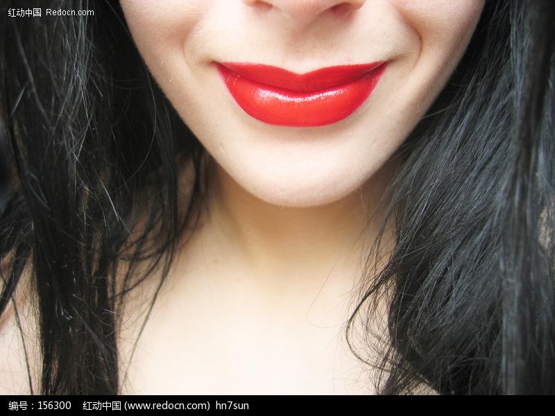 诱惑的嘴唇女性嘴唇特写高清图片素材美女图片女人