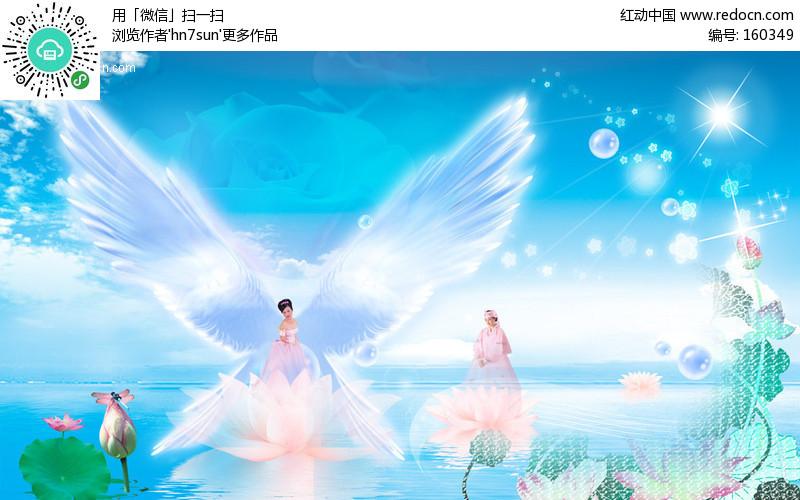 荷塘天使美女编号:160349