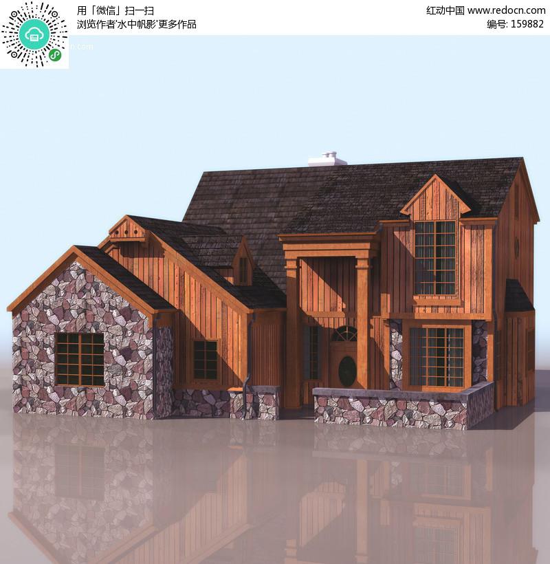 3D建筑物模型设计图片