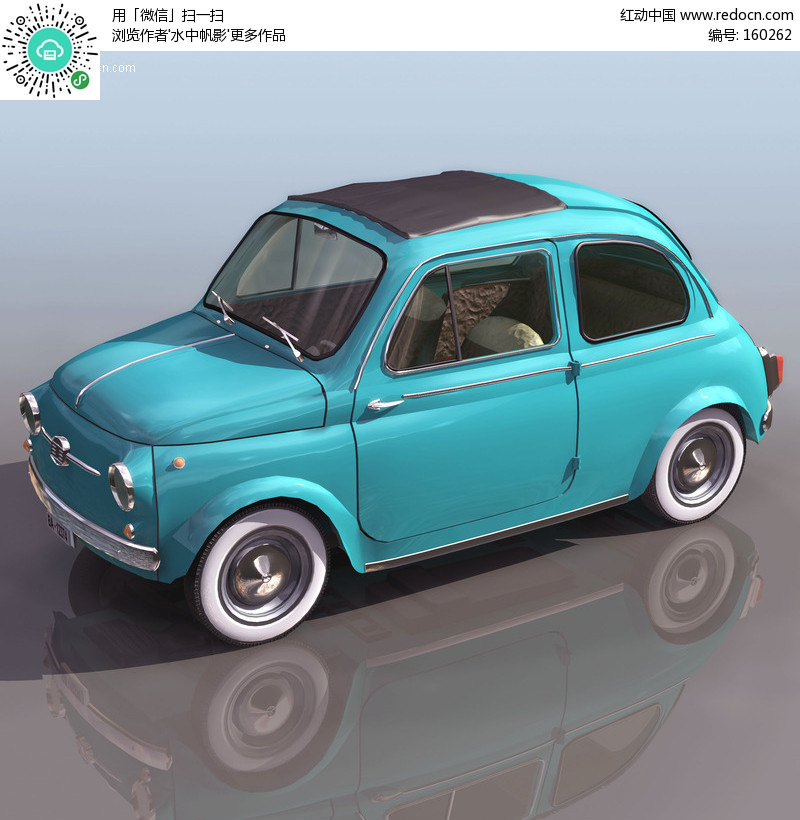 三维 甲壳虫汽车 模型 3d模型下载 3d模型素材高清图片