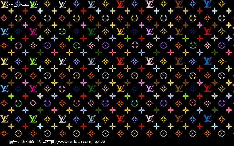 古奇标志壁纸_lv标志 经典底纹设计图片
