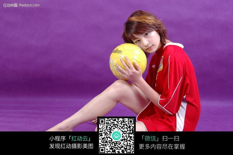 抱排球的少女图片 人物图片素材|图片库|图库下