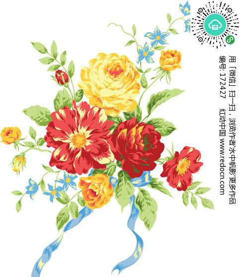 鲜花矢量素材矢量图 编号 172427 花草树木 生物世界 矢量素材 -鲜花矢