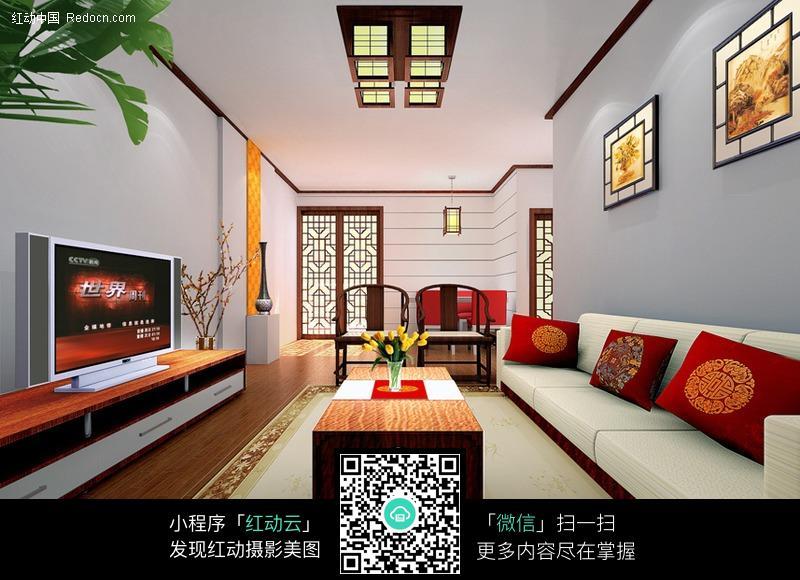 关键词:客厅中式风格装修室内设计室内装修室内设计效果图室内渲染3d图片