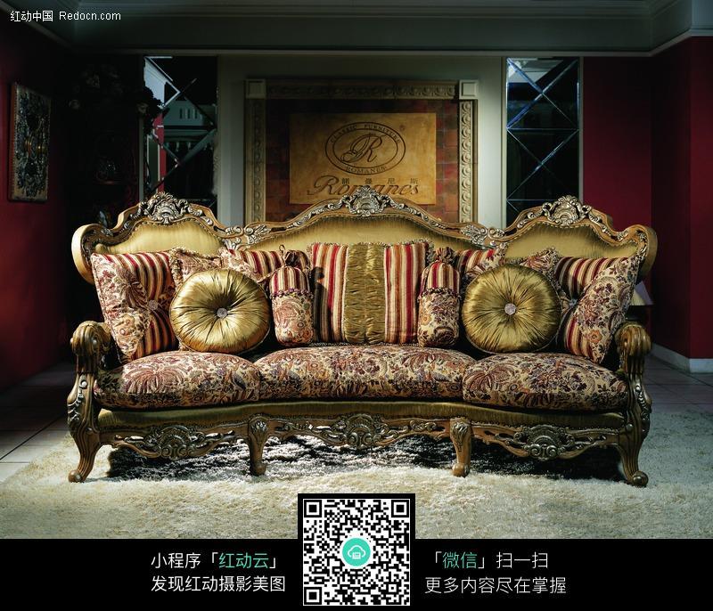 欧式奢华风格的沙发图片