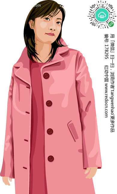 粉色风衣图片