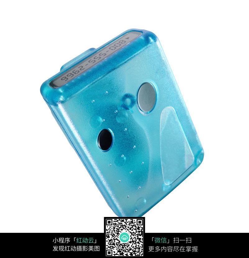 蓝色数字传呼机设计图片