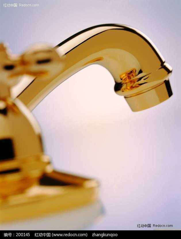 金色水龙头图片 其他 生活百科 图片素材 红动图爸 设计素材中国网
