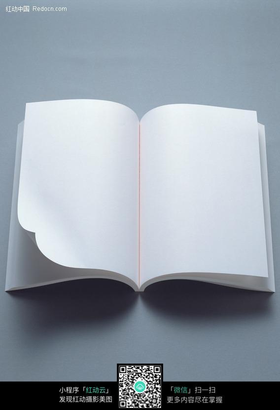 打开的<font color=red>白色空白</font>笔记本<font color=red>图片</font>(编号:201195)_办公