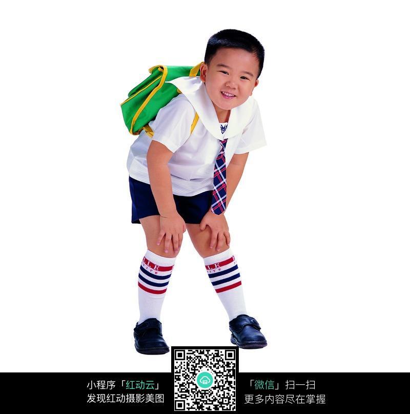 背着书包的小男孩图片(编号:210815)
