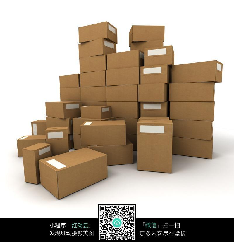 一堆包装箱纸箱图片(编号:2274