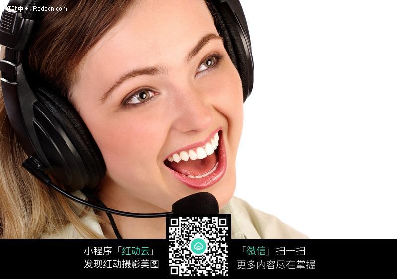 大笑的外国接线美女图片 人物图片素材|图片库|图库