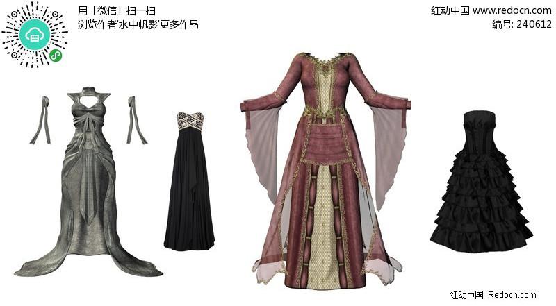 几款古代女性衣服(编号:240612)图片