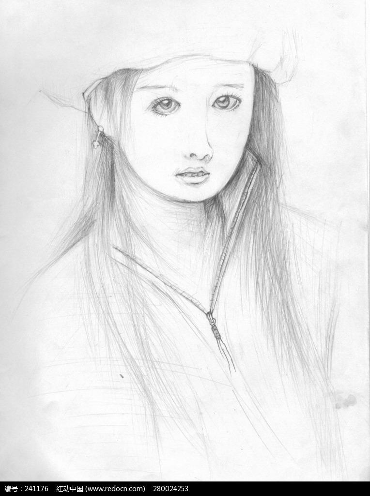 素描美女绘画欣赏编号:241176
