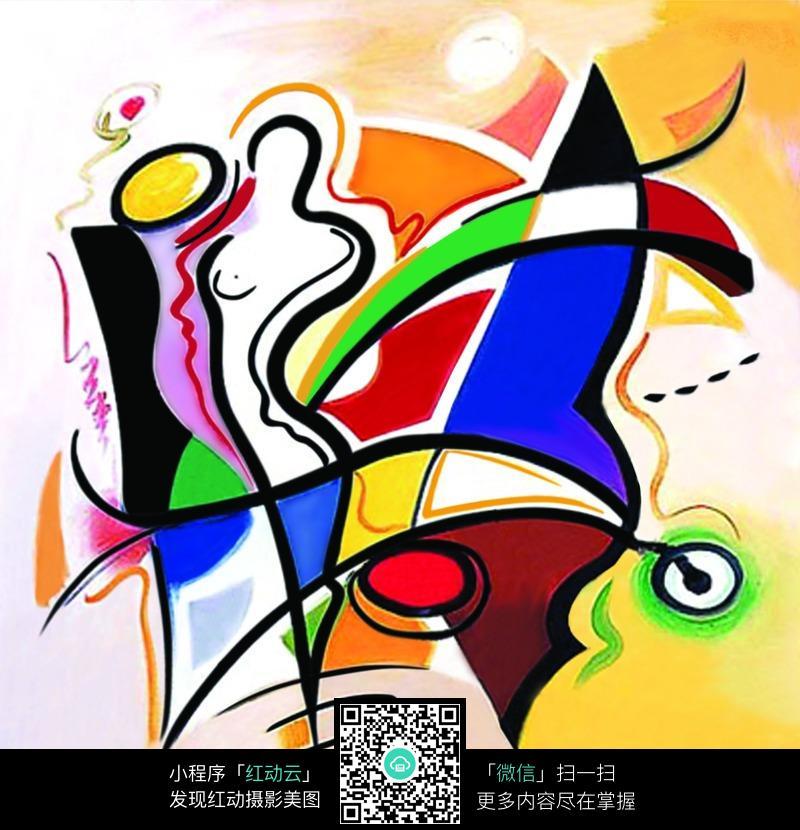 女人抽象绘画图片图片 漫画插画|绘画图片下载
