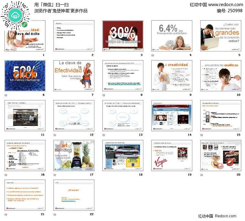 电子网站分析报告ppt模板(编号:250998)