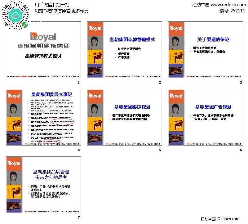 香港皇朝家私品牌管理 模式 探讨 ppt 2521