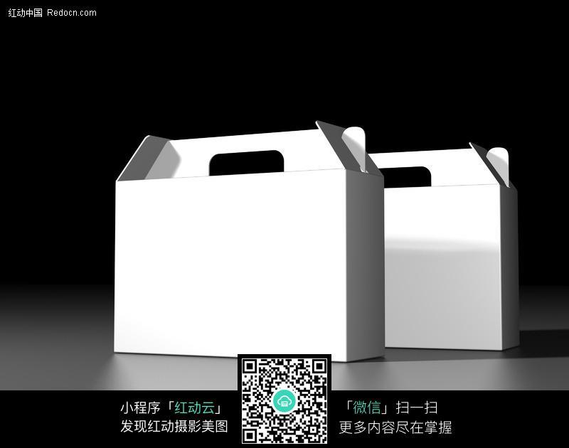 空白手提礼箱包装模板设计图片