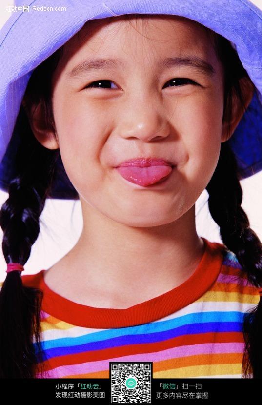 小美女吐舌头表情素材图片 人物图片素材|图片