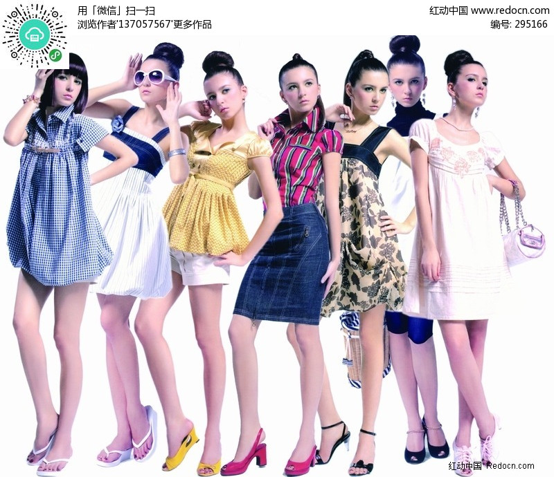 一组国外美女图片设计图片
