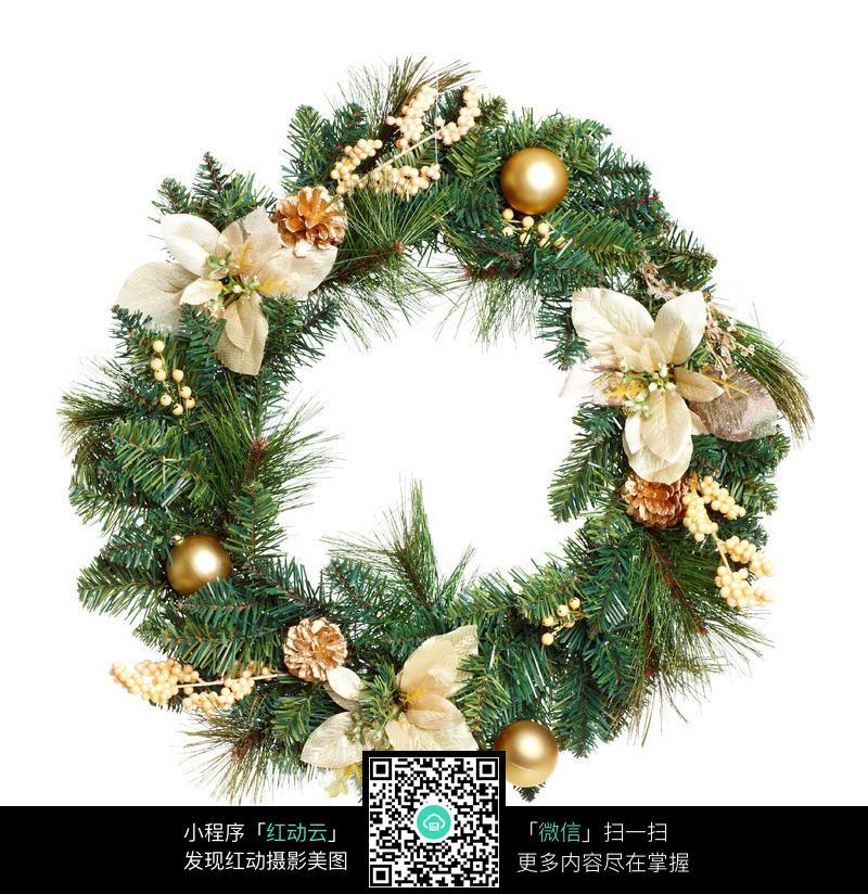 圣诞花环 花环唯美女生头像