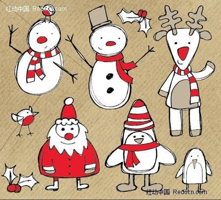 圣诞简笔画矢量图(编号:310278-打开的书本简笔画图片大全 只要具