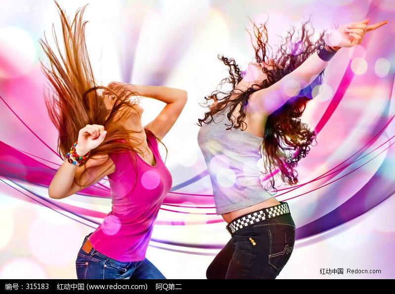 舞动的时尚外国美女图片编号:315183 女性女