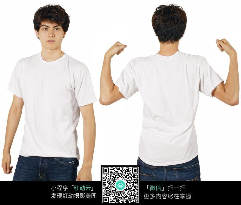 关键词:空白tshirtt恤模特人物展示vi应用图片vi模板