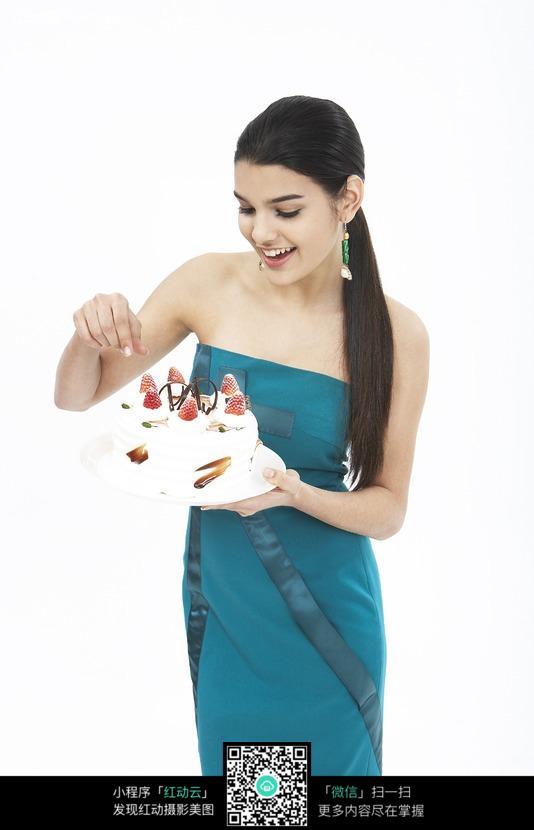 时尚女性吃蛋糕图片图片编号:315932