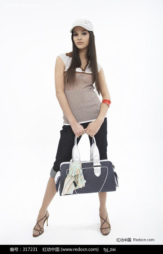 手提包的时尚美女图片(编号:317231)