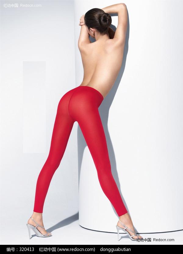 穿着红色丝袜的美女