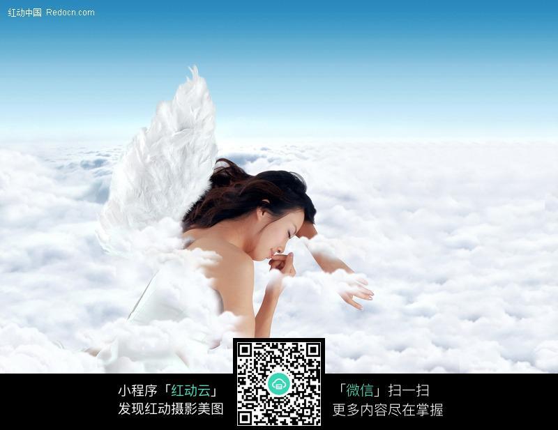 云端睡觉的天使美女图片编号:326452